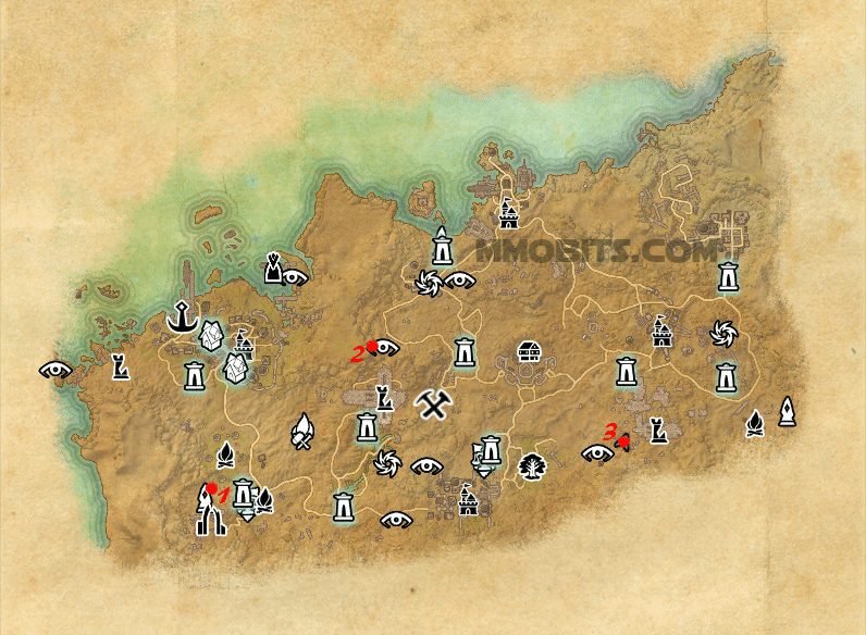 Psijic Order Time Breach locations map Alik'r