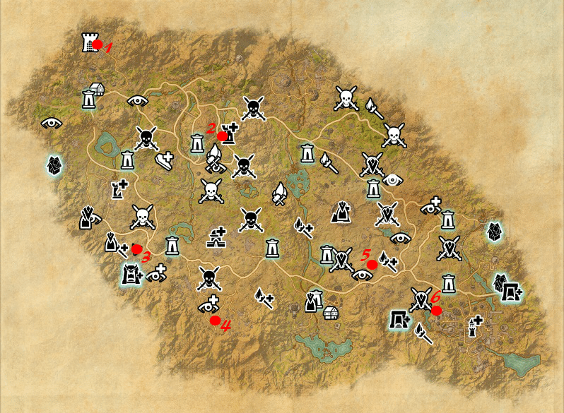 Psijic Order Time Breach locations map Craglorn