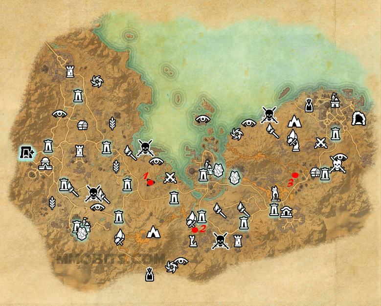 Psijic Order Time Breach locations map Stonefalls