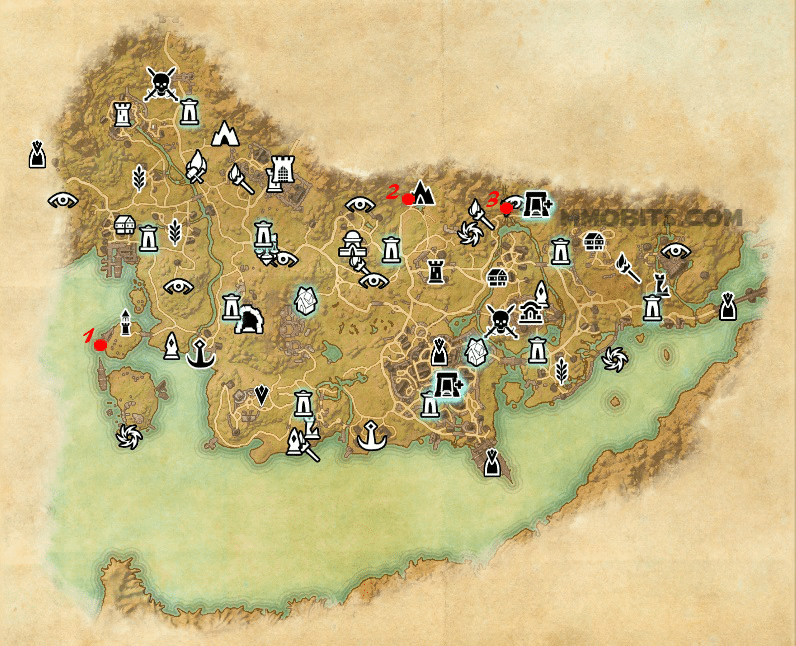 Psijic Order Time Breach locations map Stormhaven