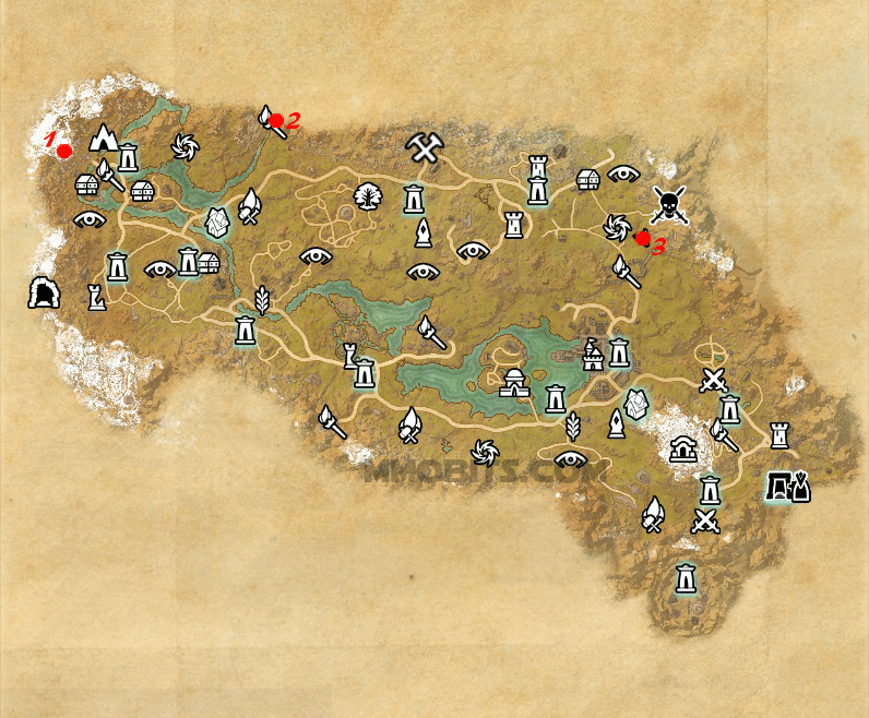 Psijic Order Time Breach locations map The Rift