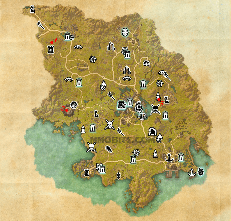 Psijic Order Time Breach locations map Grahtwood