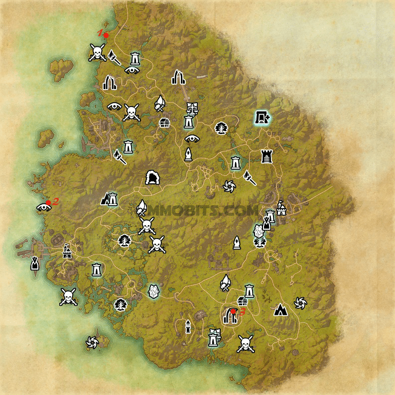 Psijic Order Time Breach locations map Greenshade