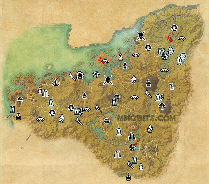 Psijic Order Time Breach locations map Malabal Tor