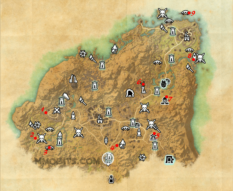 Psijic Order Time Breach locations map Rivenspire