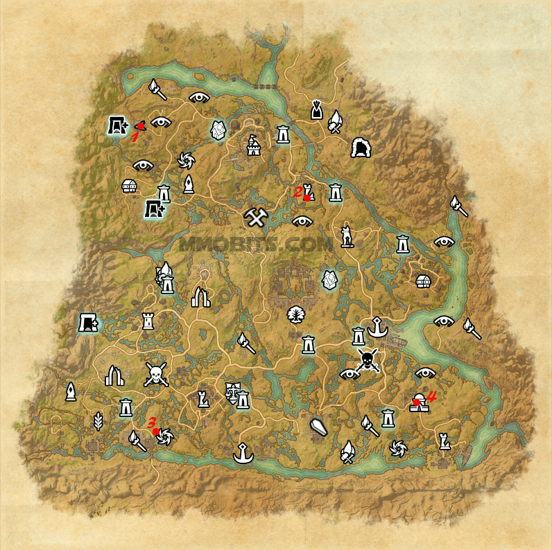 Psijic Order Time Breach locations map Shadowfen