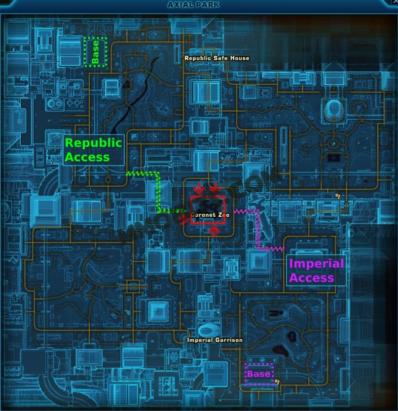 Star Wars The Old Republic Lucky Corellia World Boss Location Map