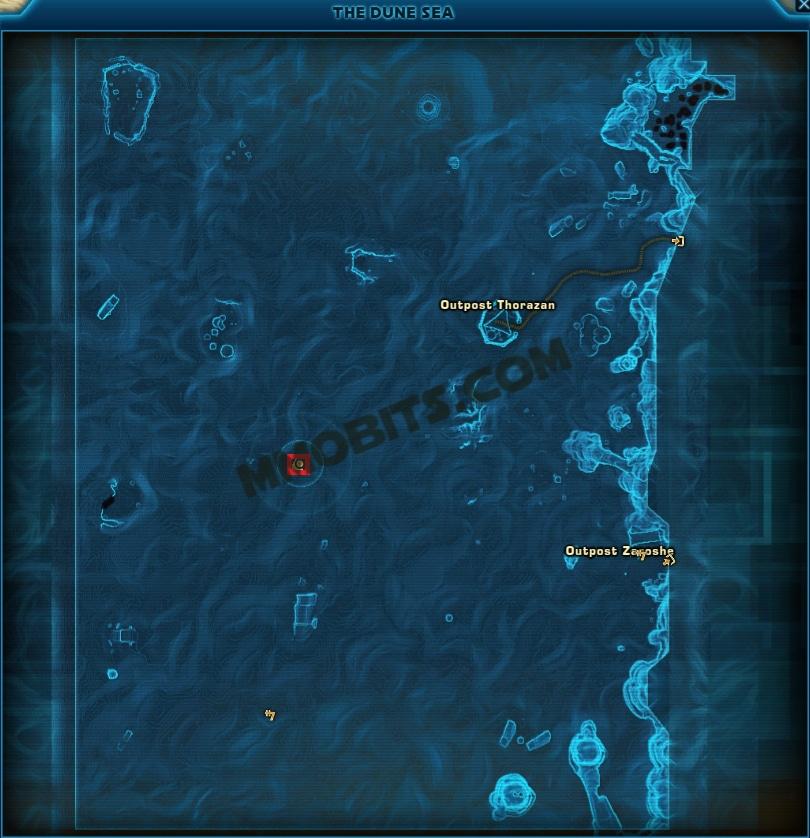 Star Wars The Old Republic Trapjaw Tatooine World Boss Map Location