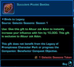 SWTOR Galactic Seasons Rewards Altuur Companion Gift