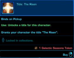 SWTOR Galactic Seasons Rewards Character Title