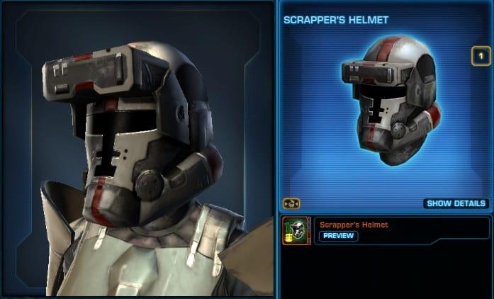 Cartel Market Items Preview  Scrapper' Helmet