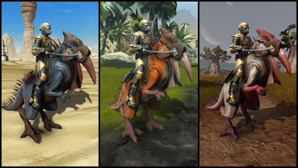 SWTOR Galactic Seasons 1 Mount Rewards