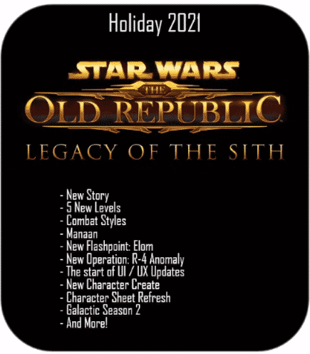 SWTOR Legacy of the Sith Summary